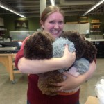 Heather Bain hugging Tribbles