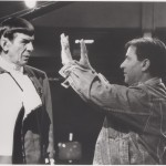 Nicholas Meyer on set with Leonard Nimoy