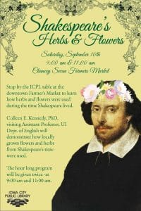 Shakespeare's Herbs and Flowers