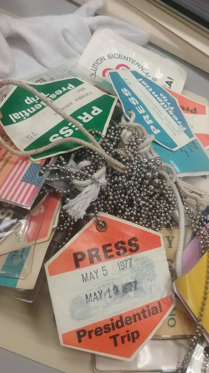 press badges