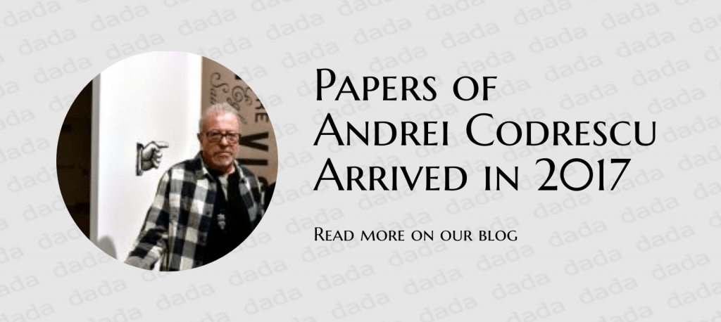 Paper of Andrei Codrescu arrived in 2017