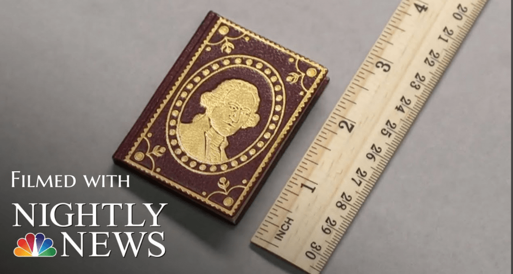 Filmed about Miniature Books with NBC Nightly News.