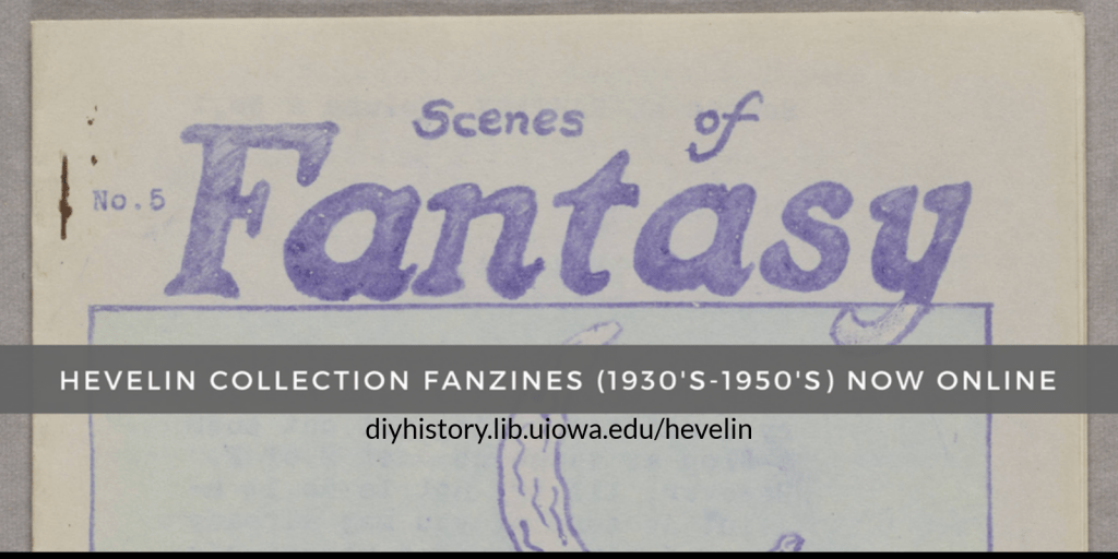 hundreds of 1930's-1950's science fiction fanzines were put online. Volunteers can read and transcribe them here: diyhistory.lib.uiowa.edu/hevelin
