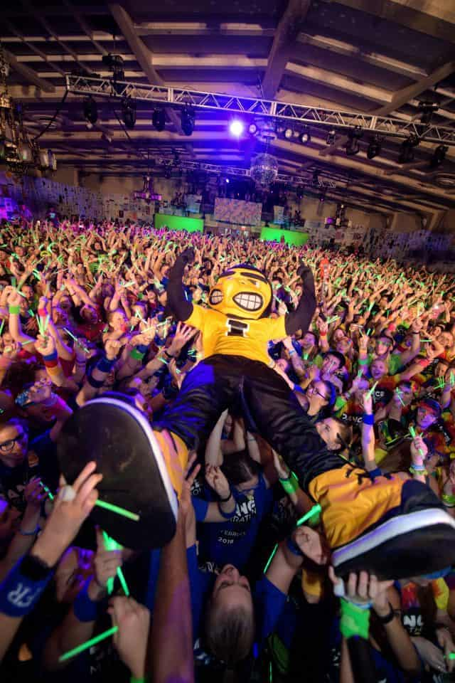 Herky brings the party to Dance Marathon