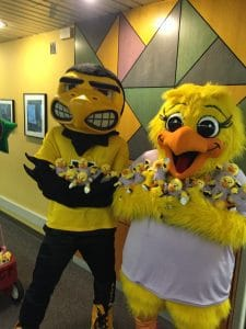 Herky with the cousin Perky