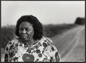 Louis Draper's photo of Fannie Lou Hamer walking dirt road