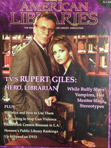 ALA magazine cover with Buffy