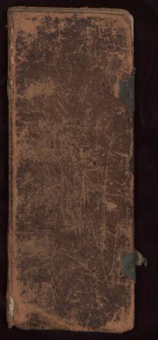 Volume 1 of leather bound commonplace book