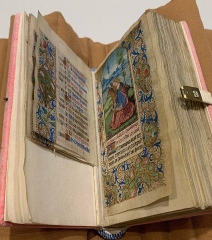 Open book showing illumination