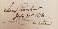 Signiture of Lucy Renshaw