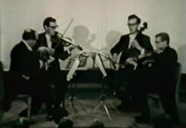 Stradivari Quartet image taken from a 1969 film