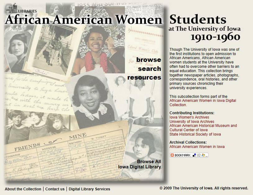African American Women Students digital collection