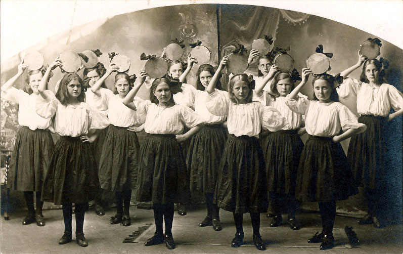 Girls' dance troupe, Roland, Iowa, 1910s | Noble Photographs