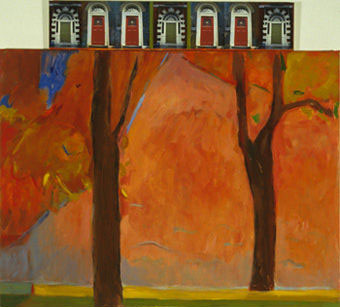 Two Trees = Five Doors by Naomi Kark Schedl (2002) | University of Iowa Daily Palette Collection