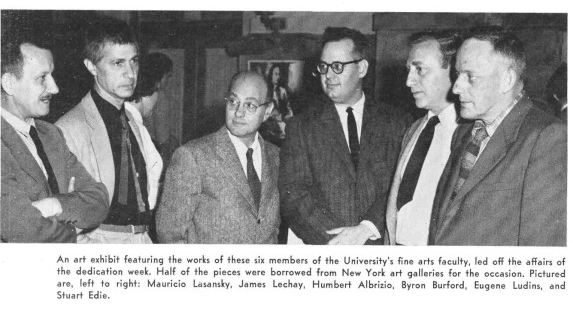 Dedication week exhibit, 1955 | University of Iowa Alumni Publications