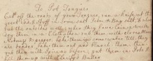 English Cookbook, 1700 | Szathmary Culinary Manuscripts and Cookbooks