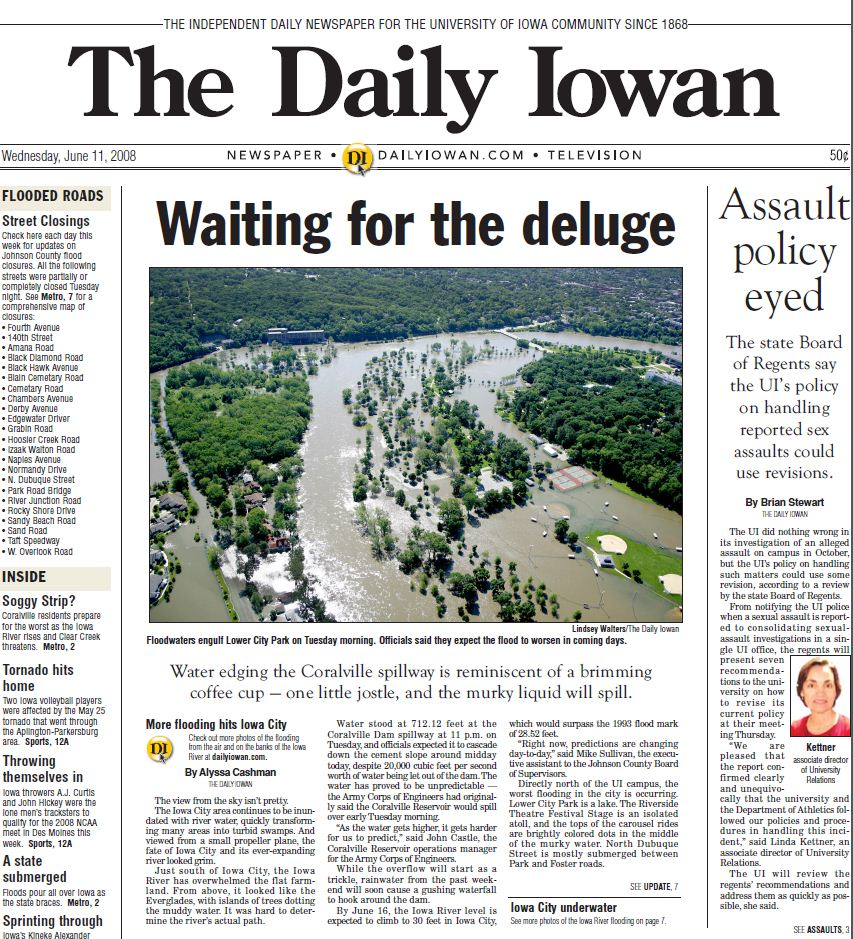 The Daily Iowan, June 11, 2008 | The Daily Iowan Historic Newspapers