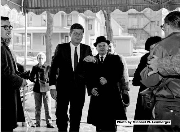 Senator John F. Kennedy visits the Iowa Memorial Union, University of Iowa, Nov. 21, 1959. Photo (c) Michael W. Lemberger | Michael W. Lemberger Photographs