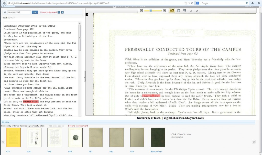 Iowa Digital Library Image & Text Viewer