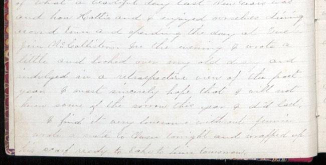 Iowa Byington Reed diary, 1875