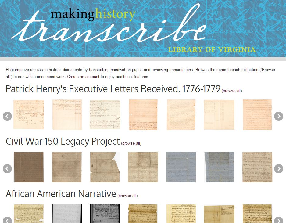 Making History | Library of Virginia