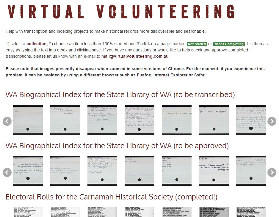 Virtual Volunteering | Carnamah Historical Society & Museum