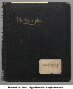 James B. Morris Jr. photo album cover, 1937-1941