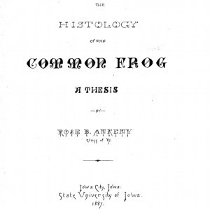 The Histology of the Common Frog, Rose B. Ankeny, 1887.
